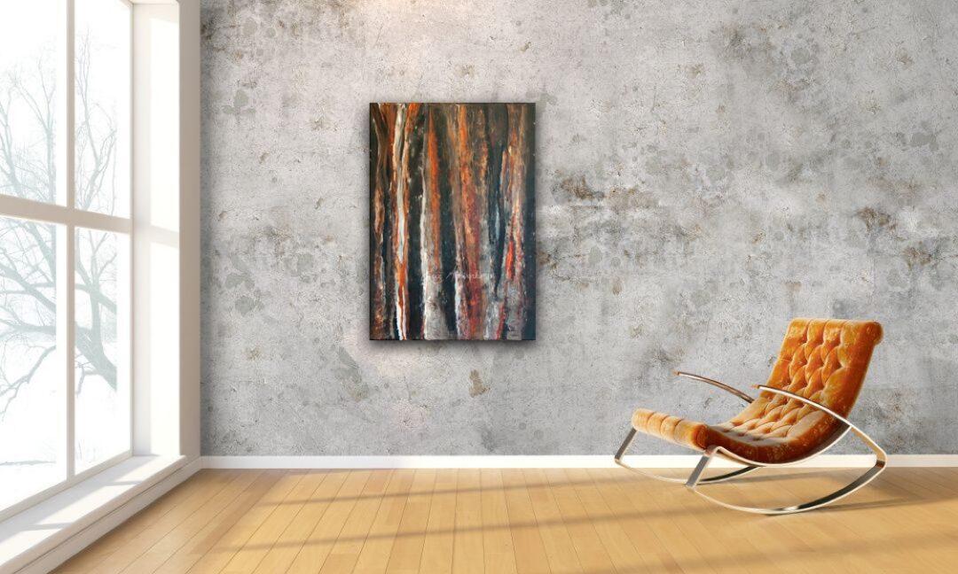 Schilderij Vuurbos door Marloes Bloedjes