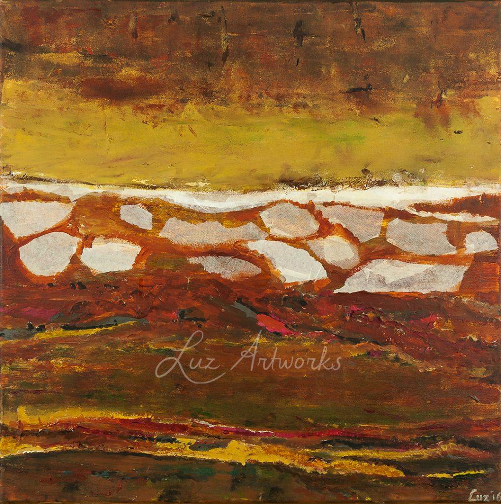 Schilderij White Leaves door Marloes Bloedjes
