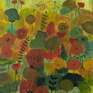 foto van het schilderij Mini Garden van Marloes Bloedjes