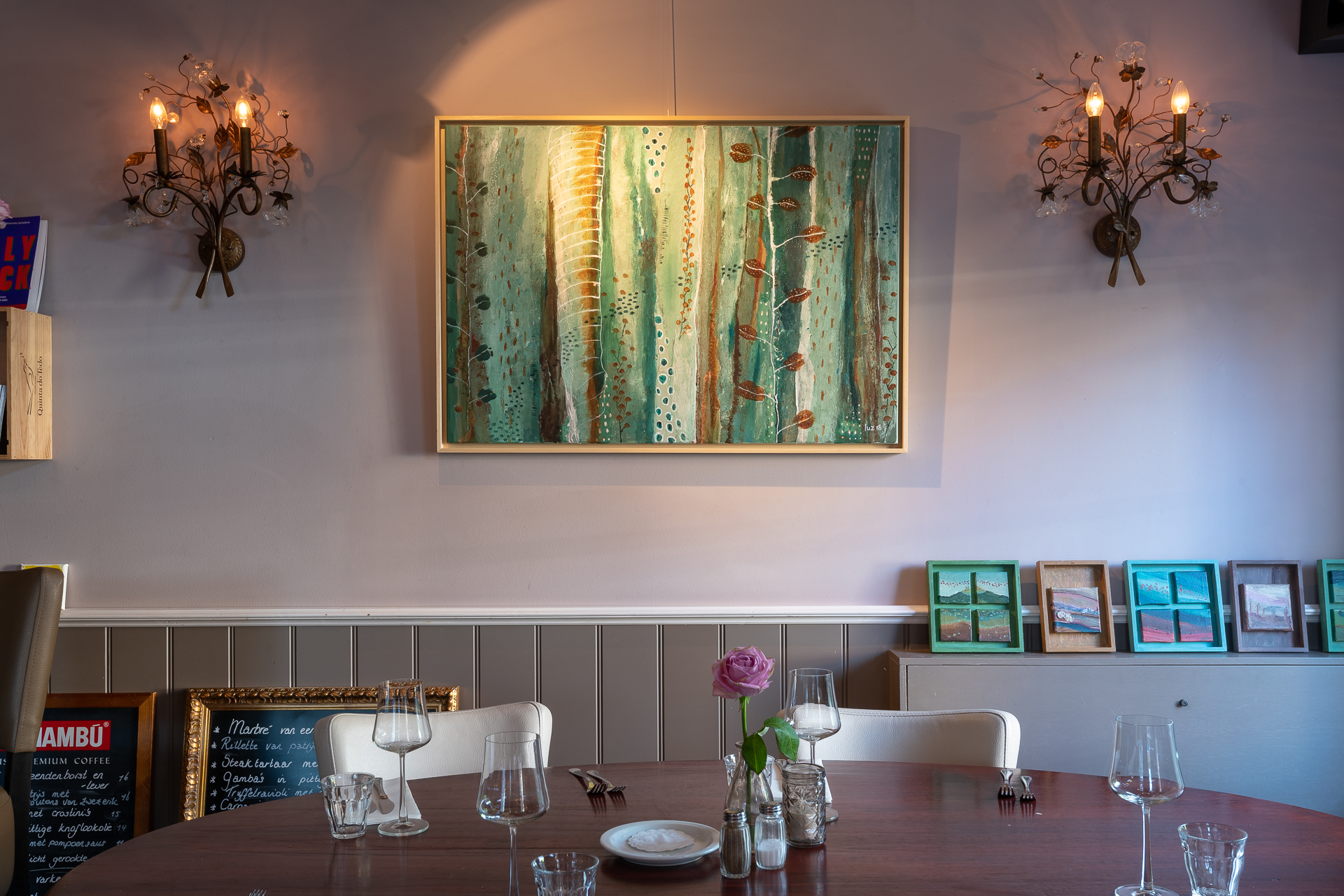 Expositie bij restaurant Van Schaik in Markenbinnen