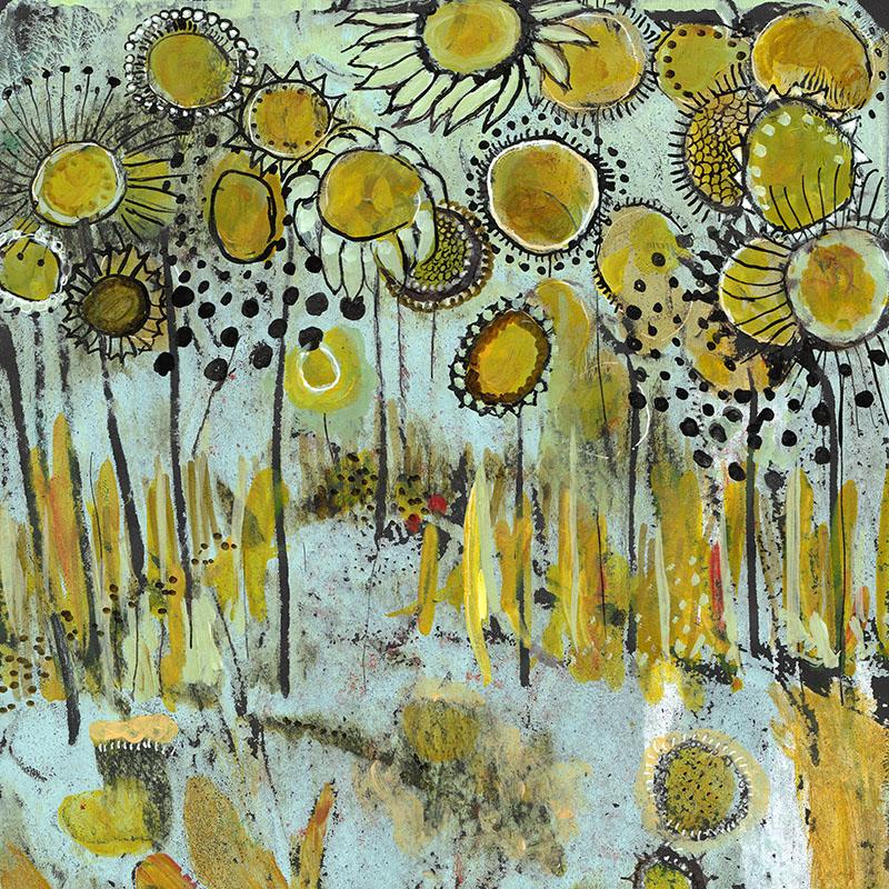 Workshop abstract bloemen schilderen door Marloes Bloedjes Toverzicht