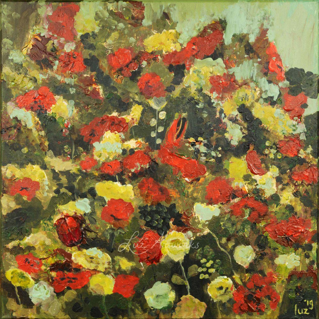 Schilderij Rose Garden door Marloes Bloedjes