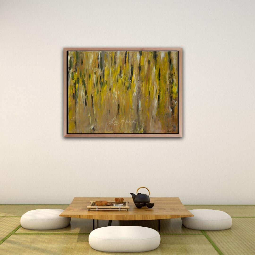 Schilderij Gouden Regen door Marloes Bloedjes