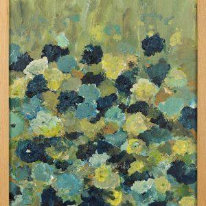 Schilderij Blauwe tuin door Marloes Bloedjes