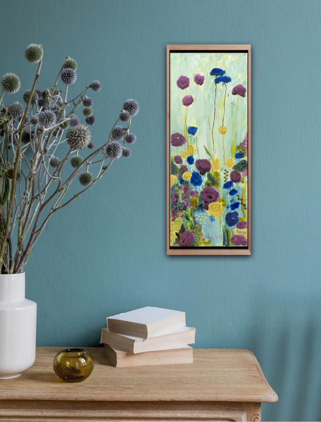 Wild bloemenveld blauw en paars door Marloes Bloedjes