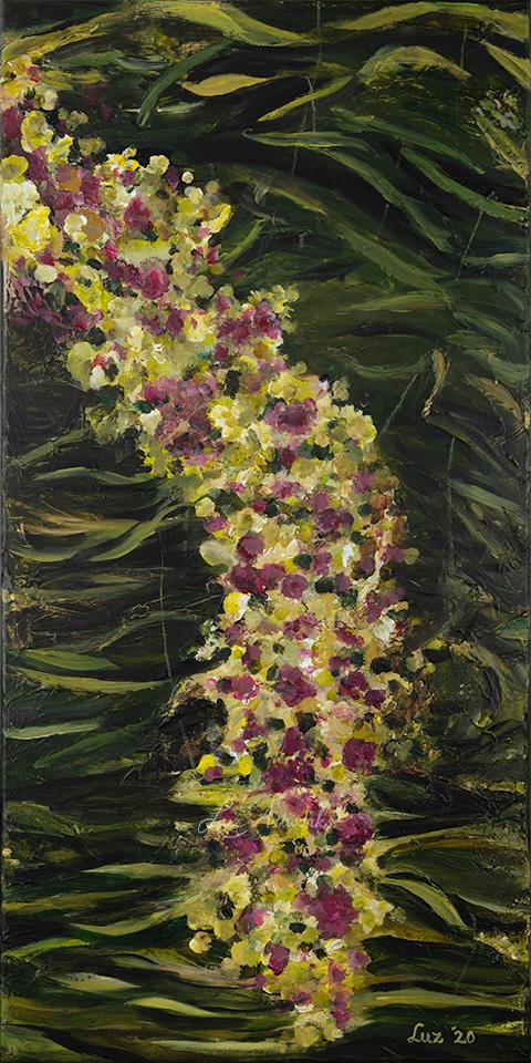 De afbeelding laat het schilderij Droombloesem van Marloes Bloedjes zien.