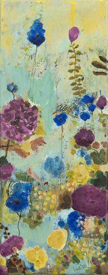 Wild Bloemenveld Blauw en Paars (rechts)