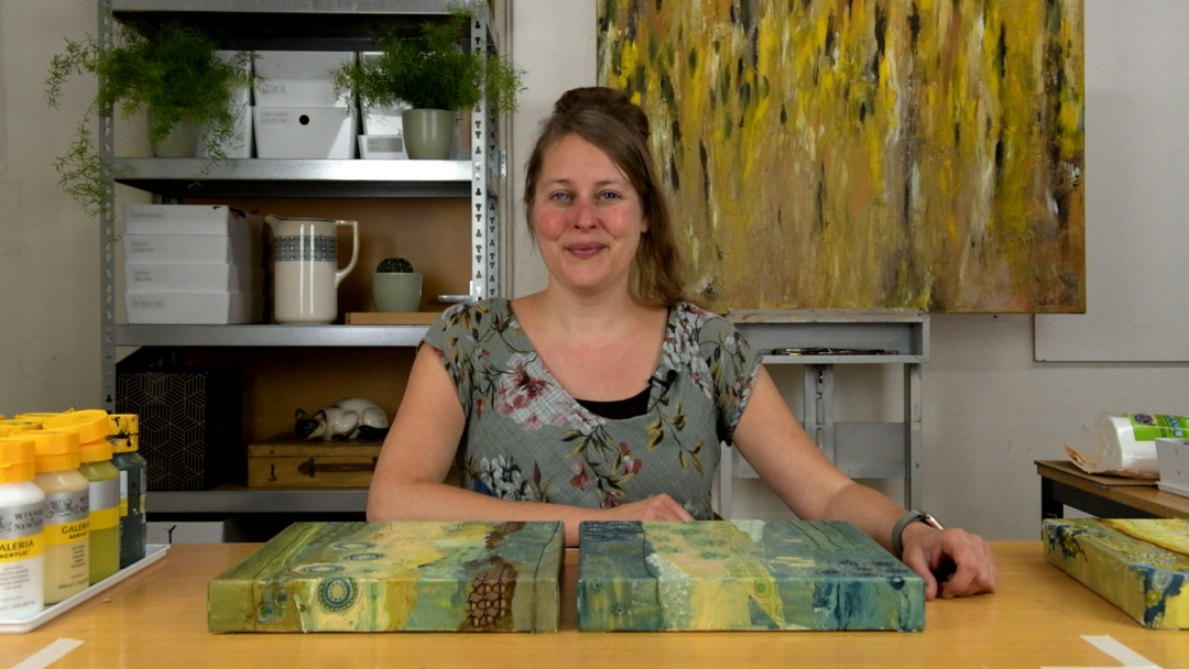 Marloes presenteert de mixed media schildercursus Patronenparadijs
