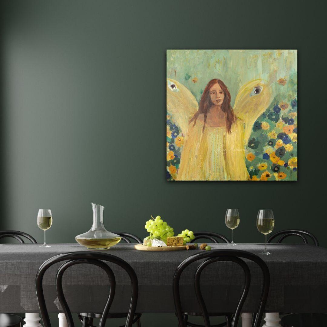 Deze afbeelding toont het schilderij Guardian Angel door Marloes Bloedjes