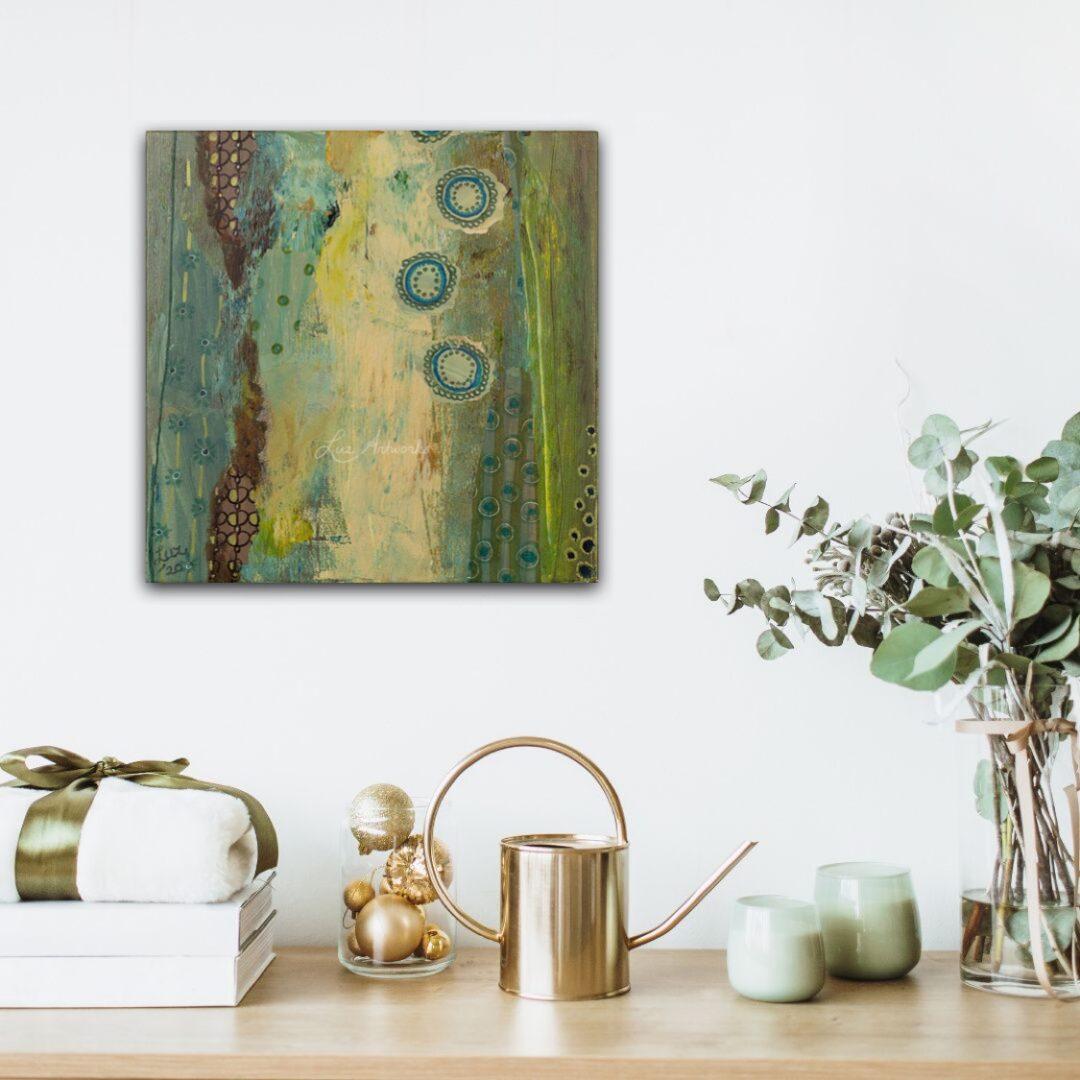 Schilderij Patronenparadijs groen