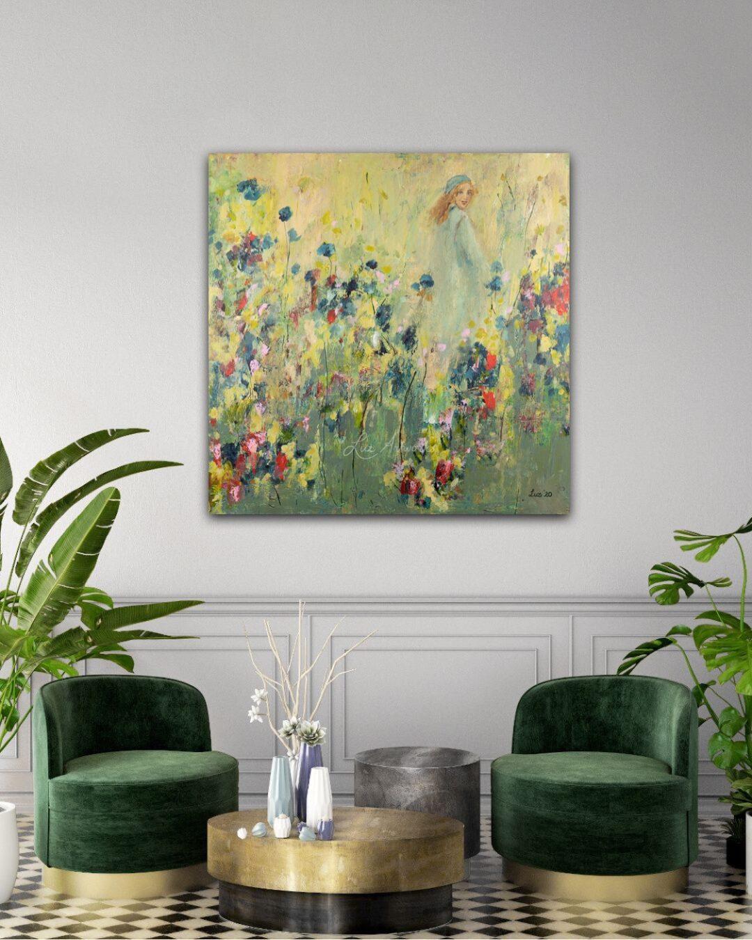 Schilderij Taking a new step door Marloes Bloedjes
